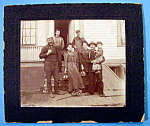 Click here to enlarge image and see more about item 10364: Working Class - Cabinet Photo of a Working Class Family