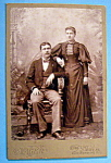 Click here to enlarge image and see more about item 10365: Mustache Has Wings - Cabinet Photo of a Couple