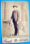Click here to enlarge image and see more about item 10368: Stripes Suit Me Fine - Cabinet Photo of a Man