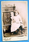 Click here to enlarge image and see more about item 10372: I'm A Big Girl - Die Cut Cabinet Photo of Little Girl