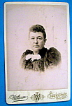 Click here to enlarge image and see more about item 10373: Handsome Woman - Cabinet Photo of a Stern Woman