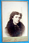 Click here to enlarge image and see more about item 10375: Pretty As A Picture - Cabinet Photo of a Young Woman