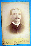 Click here to enlarge image and see more about item 10376: Business Is Business - Die Cut Cabinet Photo of a Man