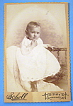 Click to view larger image of The Young Thinker - Cabinet Photo of a Thoughtful Child (Image1)