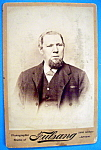 Click here to enlarge image and see more about item 10383: I'm Dead Serious - Cabinet Photo of a Bearded Man