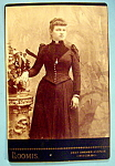 Click here to enlarge image and see more about item 10384: Mother Would Be Proud - Cabinet Photo of a Proud Woman