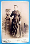 Click here to enlarge image and see more about item 10385: Neat As A Pin - Cabinet Photo of a Beautiful Woman