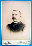 Click here to enlarge image and see more about item 10386: In Style - Cabinet Photo of a Man With Mustache