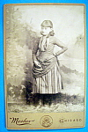 Click here to enlarge image and see more about item 10391: Think Of Me - Cabinet Photo of a Cute Teenage Girl
