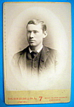 Click here to enlarge image and see more about item 10392: All American - Cabinet Photo of a Clean Cut Young Man