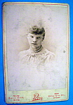 Click here to enlarge image and see more about item 10393: If Looks Could Kill - Cabinet Photo of an Angry Woman