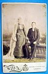 Click here to enlarge image and see more about item 10396: Till Death Do Us Part - Cabinet Photo of Lovely Couple