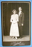 Click to view larger image of Young Love - Cabinet Photo of a Young Couple (Image1)