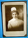 Click here to enlarge image and see more about item 10398: On Call - Cabinet Photo of a Pretty Nurse