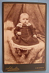 Click here to enlarge image and see more about item 10401: Bright Eyes - Cabinet Photo of a Wide Eyed Boy