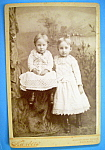 Click here to enlarge image and see more about item 10402: Sisterly Love - Cabinet Photo of Young Sisters