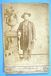 Click here to enlarge image and see more about item 10411: When Chicago Was A Cattle Town - Cabinet Photo of A Man
