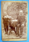 Click here to enlarge image and see more about item 10416: The Fiddler & I - Cabinet Photo of Papa & His Fiddler