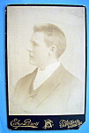 Click here to enlarge image and see more about item 10419: Right Face - Profile Cabinet Photo of a Young Man