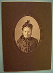 Click to view larger image of Mourning After - Cabinet Photo of a Widow Taylor (Image1)