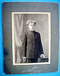 Click here to enlarge image and see more about item 10423: Cabinet Photo of Young Military Cadet
