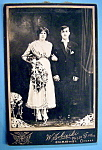 Click here to enlarge image and see more about item 10425: Here Comes The Bride - Cabinet Wedding Photo