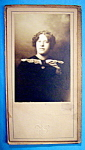 Click here to enlarge image and see more about item 10426: Working Class Girl - Cabinet Photo of a Pretty Lady
