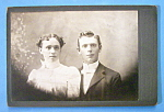 Click here to enlarge image and see more about item 10431: The Happy Couple - Cabinet Photo of a Man & Wife