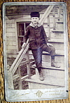 Click here to enlarge image and see more about item 10433: A Taste Of The Old Country - Cabinet Photo of a Boy