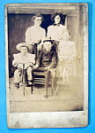 Click here to enlarge image and see more about item 10435: All In The Family - Cabinet Photo of a Family & Dog