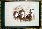 Click here to enlarge image and see more about item 10436: Just The Three Of Us - Cabinet Photo of a Family