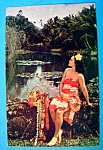 Click here to enlarge image and see more about item 10442: Hawaiian Maiden Postcard