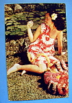 Click here to enlarge image and see more about item 10443: Lei Stringer in Beautiful Hawaii Postcard