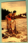 Click here to enlarge image and see more about item 10445: Island Boy in Kona Coast of Hawaii Postcard