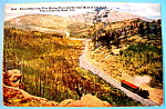 Pike's Peak Cog Road, Colorado Postcard