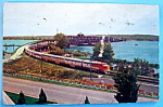 Click to view larger image of Leaving Santa Fe Bridge Postcard (Fort Madison, Iowa) (Image1)