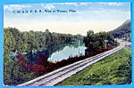 Click to view larger image of C.M & ST. P.R.R West of Winona, Minnesota Postcard (Image1)