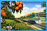 Streamliner Railroad Postcard
