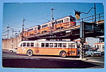 Click here to enlarge image and see more about item 10488: Boston 8576 Trolley Coach Postcard