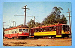Click here to enlarge image and see more about item 10492: Los Angeles Trolley Car Postcard