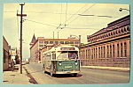Click to view larger image of Chicago Transit Authority Trolley Bus 9627 Postcard (Image1)