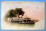 Typical Mississippi River Steamboat Postcard