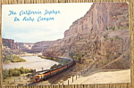 Click here to enlarge image and see more about item 10555: The California Zephyr In Ruby Canyon