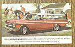 Click to view larger image of 1960 Ambassador Postcard (Hardtop Station Wagon) (Image1)
