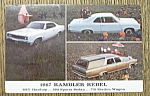 Click to view larger image of 1967 Postcard Of A Rambler Rebel (Image1)