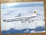 Click to view larger image of Lufthansa Postcard (Lufthansa Boeing Jet 707) (Image1)