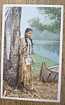 Click here to enlarge image and see more about item 10659: American Indian - Postcard of a Minnehaha