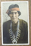 Click here to enlarge image and see more about item 10697: Postcard of Old Navajo Indian Medicine Man (New Mexico)