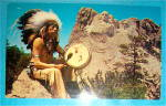 Click to view larger image of Mount Rushmore & Sioux Indian Postcard (Image1)