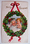 Merry Christmas Postcard w/Santa Claus & Baby